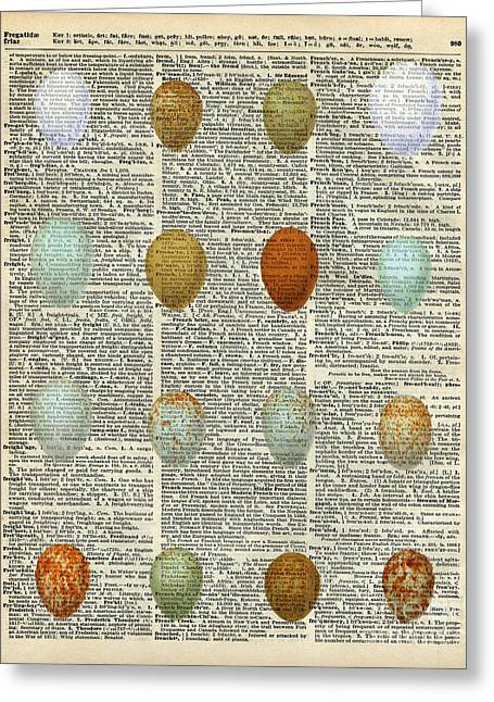 British Birds Eggs Greeting Card