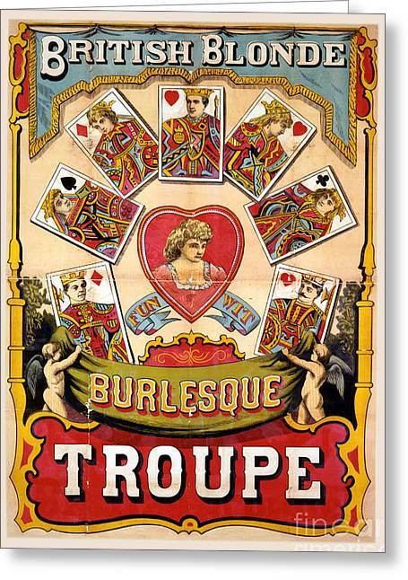 British Blonde Burlesque Troupe Greeting Card