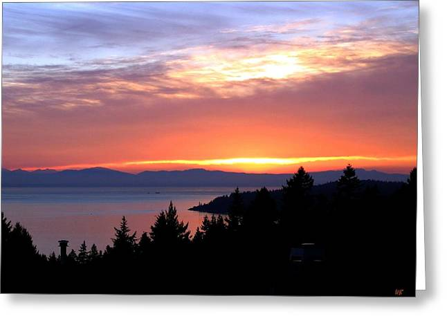 British Columbia Sunset Greeting Card by Will Borden