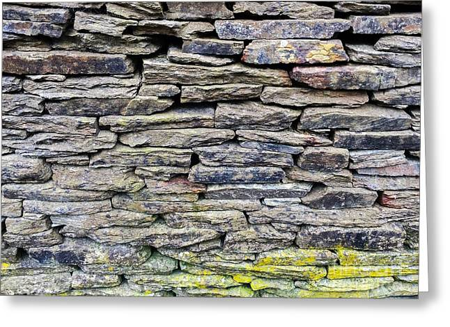 British Dry Stone Wayy, Photo By Mary Bassett Greeting Card by Mary Bassett