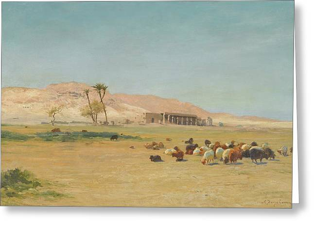 British Egyptian Landscape Greeting Card