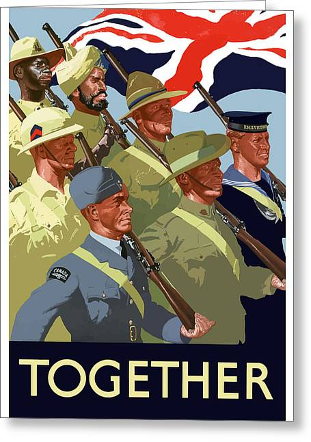 British Empire Soldiers Together Greeting Card