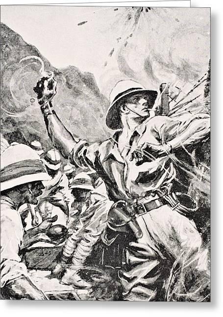 British Lieutenant W.t. Forshaw Vc Greeting Card