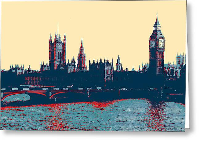 British Parliament Greeting Card