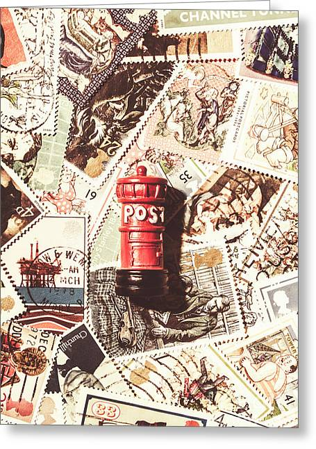 British Post Box Greeting Card by Jorgo Photography - Wall Art Gallery