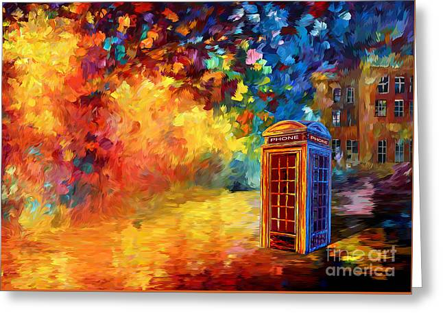British Red Phone Box Greeting Card by Three Second