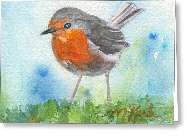British Robin Greeting Card
