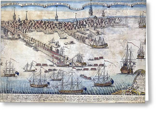 British Ships Of War, Landing Troops Greeting Card