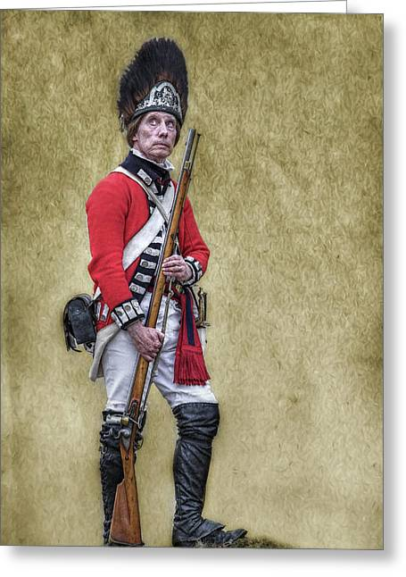 British Soldier American Revolution Greeting Card by Randy Steele
