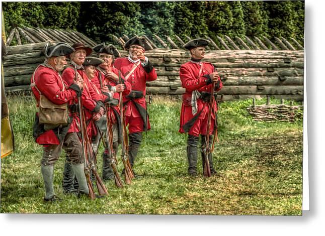 British Soldiers At Fort Ligonier Greeting Card