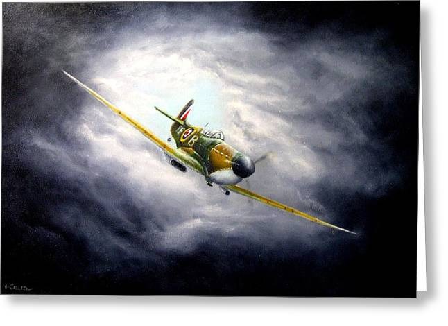 British Spitfire Mk. 1a Greeting Card