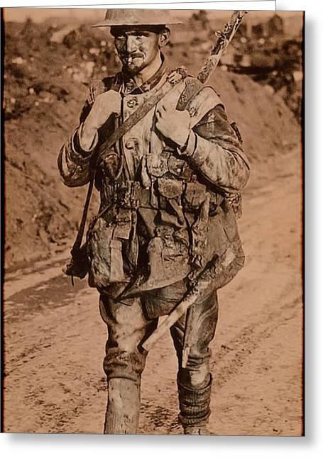 British Tommy World War One  1917 Greeting Card