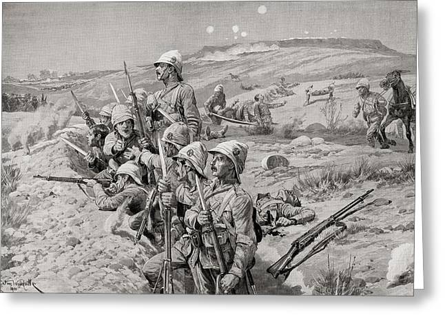 British Troops With Fixed Bayonets Greeting Card