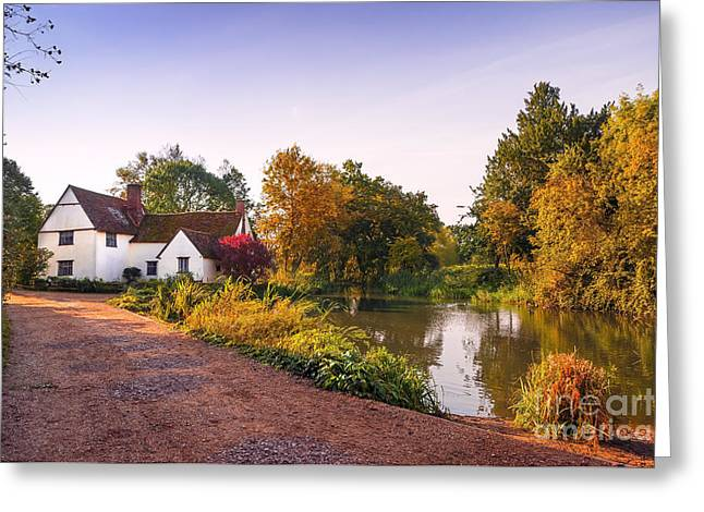 British Village Greeting Card by Svetlana Sewell