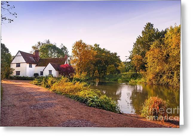 British Village Greeting Card by Svetlana Sewell