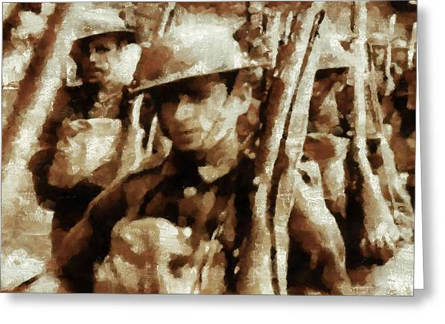 British World War II Soldiers Greeting Card by Esoterica Art Agency