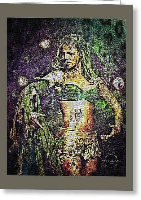 Britney Spears - In The Jungle Greeting Card by Absinthe Art By Michelle LeAnn Scott