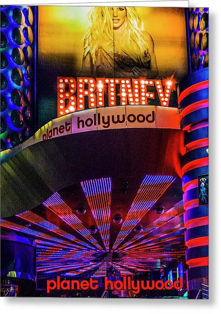 Britney Spears Las Vegas Greeting Card