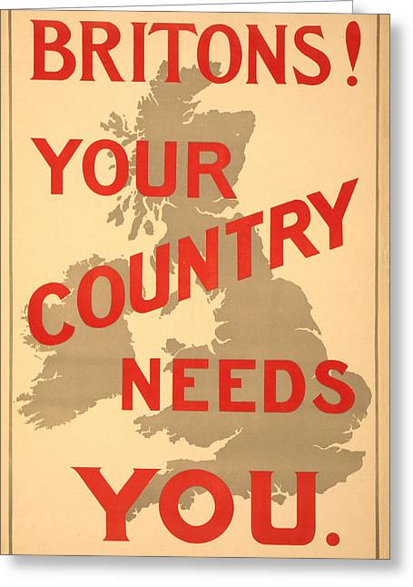 Britons Needed Greeting Card by Richard Reeve