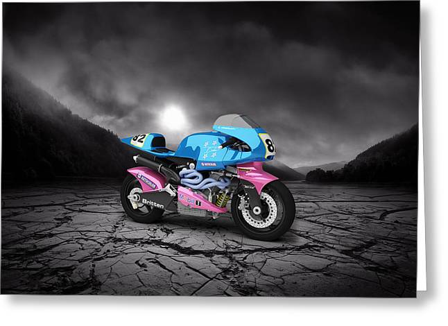 Britten V1000 1995 Mountains Greeting Card by Aged Pixel