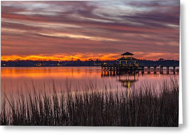 Brittlebank Park Dock Charleston Sc Greeting Card
