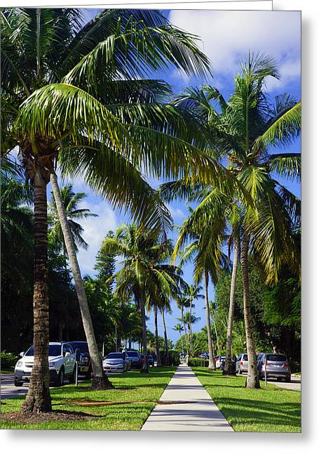 Broad Avenue South, Old Naples Greeting Card by Robb Stan