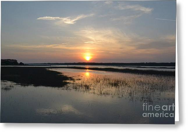 Greeting Card featuring the photograph Broad Creek Sunset by Carol  Bradley