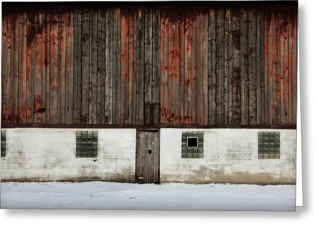 Broad Side Of A Barn Greeting Card by Julie Hamilton