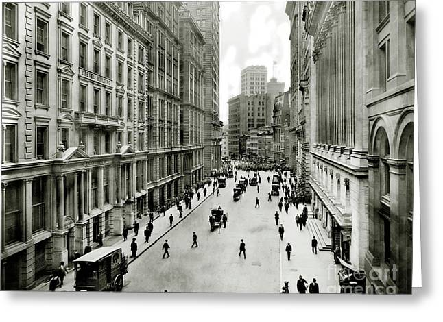 Broad St South Of Wall Street 1911 Greeting Card
