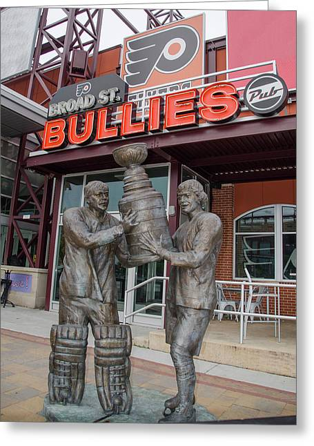 Broad Street Bullies Pub - Clarke And Parant Greeting Card by Bill Cannon