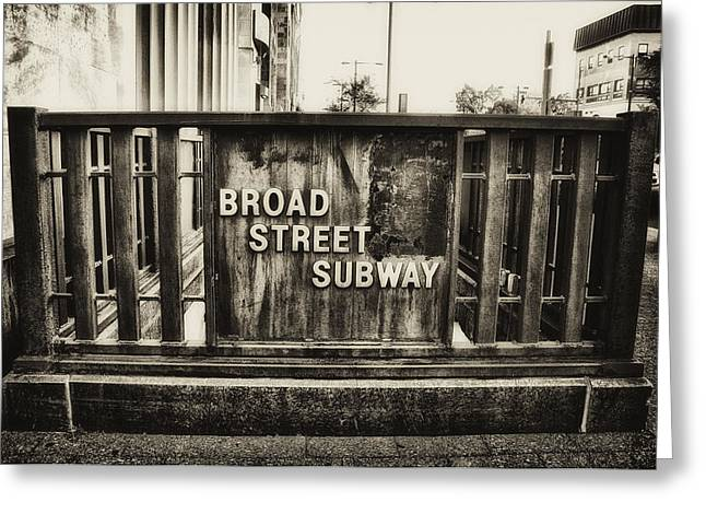 Broad Street Digital Art Greeting Cards - Broad Street Subway - Philadelphia Greeting Card by Bill Cannon