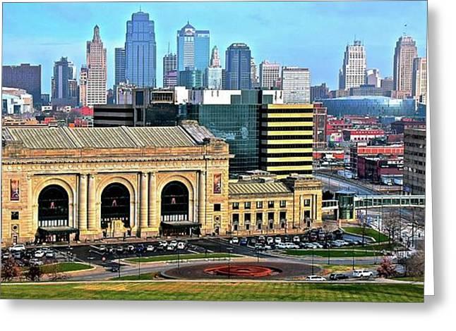 Broad View Of Kansas City Greeting Card