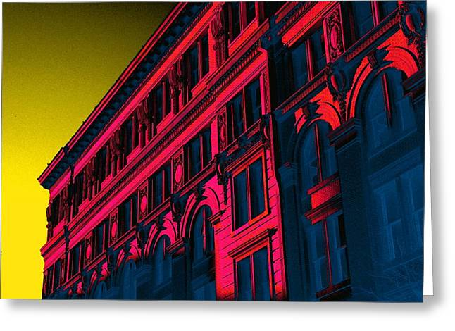 Broadway 118 In Fuschia Greeting Card by Edgar Farrera