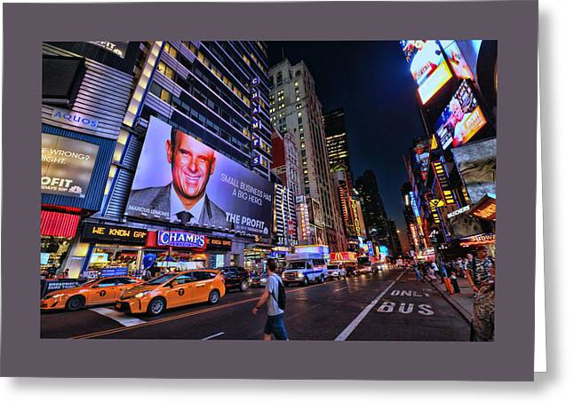 Broadway And 42nd Street # 2 Greeting Card