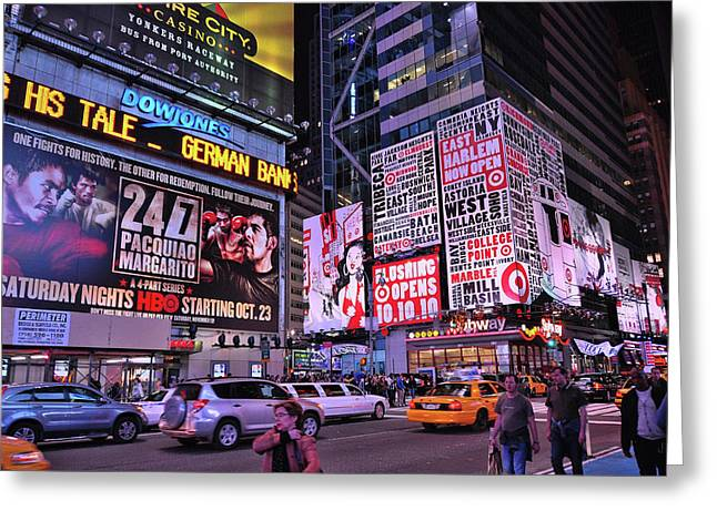 Broadway And 42nd Street  # 1  Greeting Card