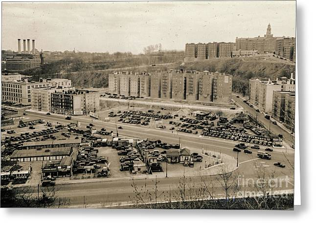 Broadway And Nagle Ave 1936 Greeting Card