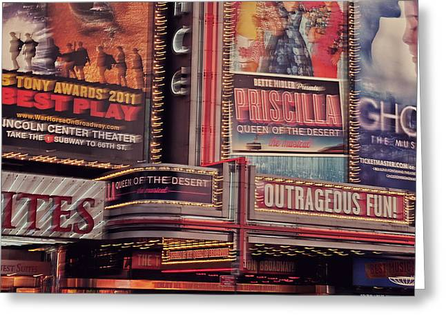 Fun New Art Greeting Cards - Broadway Greeting Card by Benjamin Matthijs
