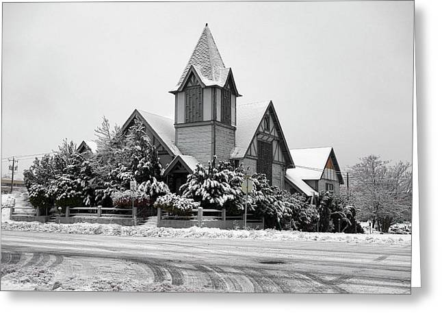 Broadway Church Spokane Greeting Card by Daniel Hagerman