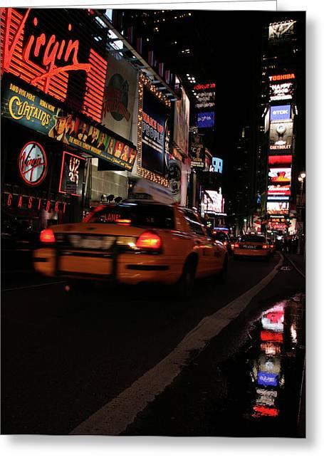 Broadway Lights Greeting Card by Karol Livote