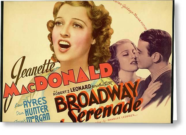 Broadway Serenade 1939 Greeting Card by Mountain Dreams