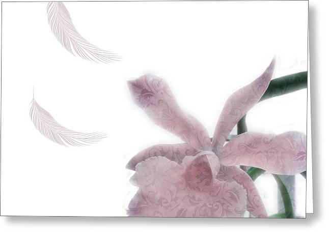 Brocade Design Flower Art Six Greeting Card
