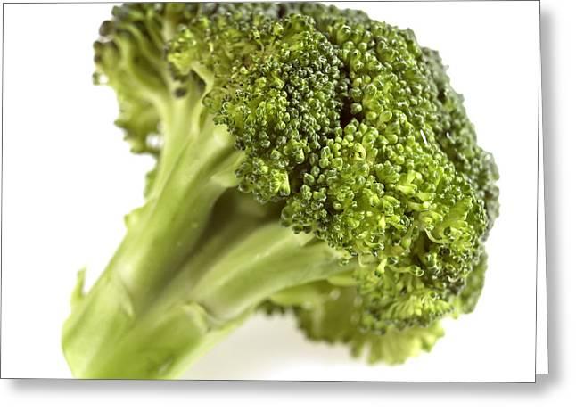 Broccoli Cabbage Greeting Card by Gerard Lacz