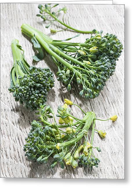 Broccoli Florets Greeting Card by Elena Elisseeva