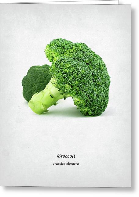 Broccoli Greeting Card by Mark Rogan