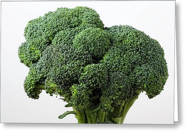 Broccoli Greeting Card by Robert Ullmann