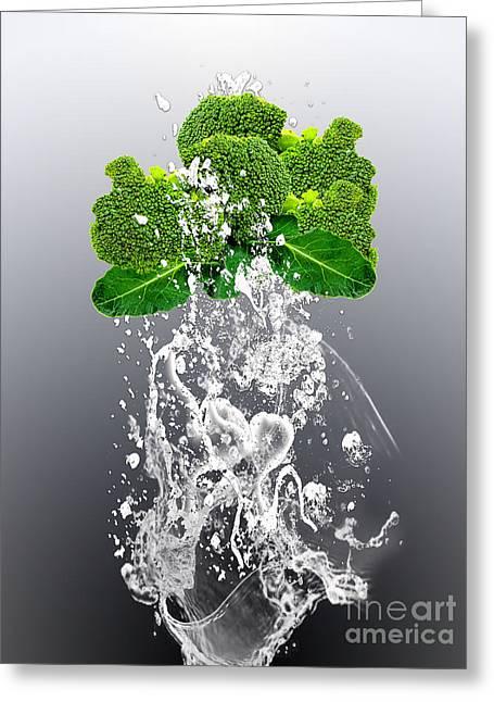 Broccoli Splash Greeting Card