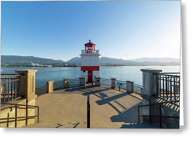 Brockton Point Lighthouse At Stanley Park Greeting Card by David Gn