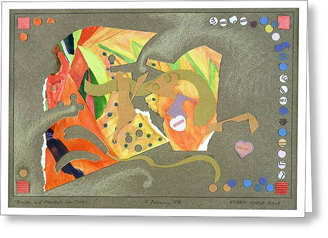Broken And Mended Greeting Card by Eileen Hale