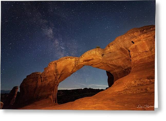 Broken Arch And Milky Way Greeting Card