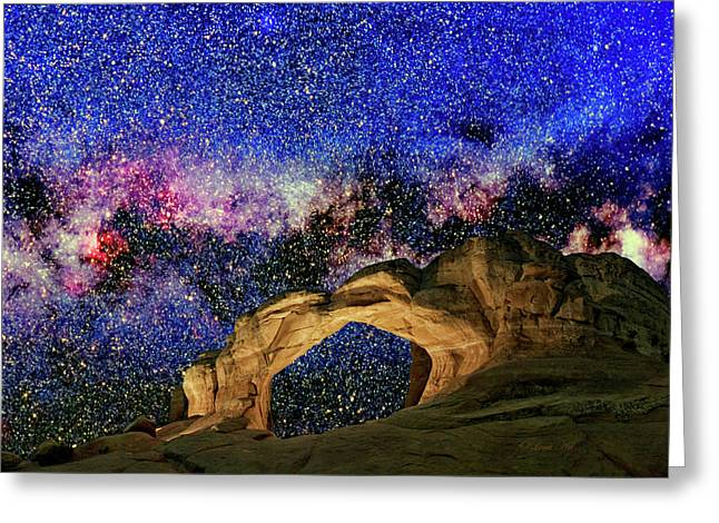 Broken Arch Night Sky Design Greeting Card